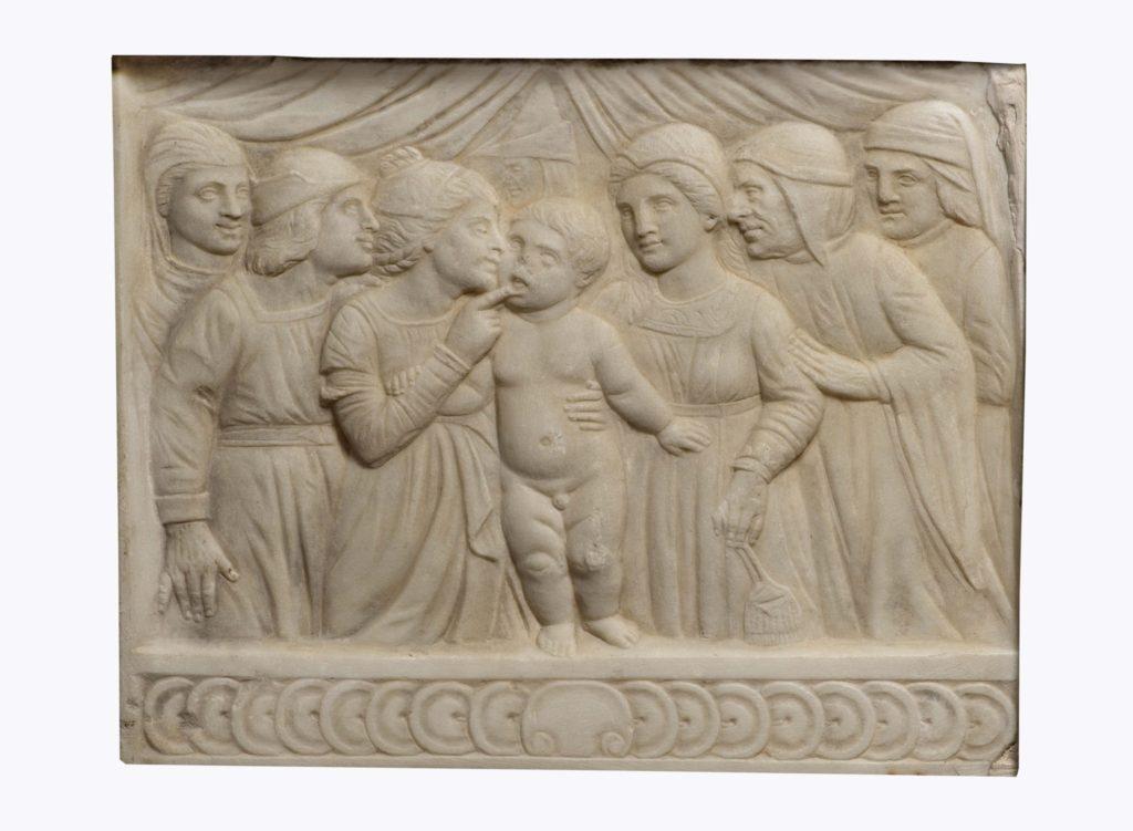 bassorilievo in marmo antico